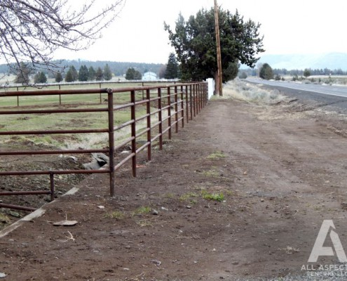 cable fence beside road by All Aspects Fencing
