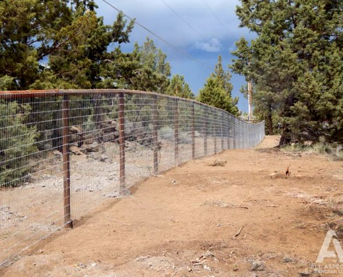 pipe and wire fencing