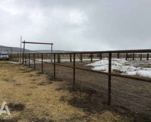 ranch pipe wire fencing