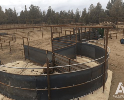 corral fencing central oregon