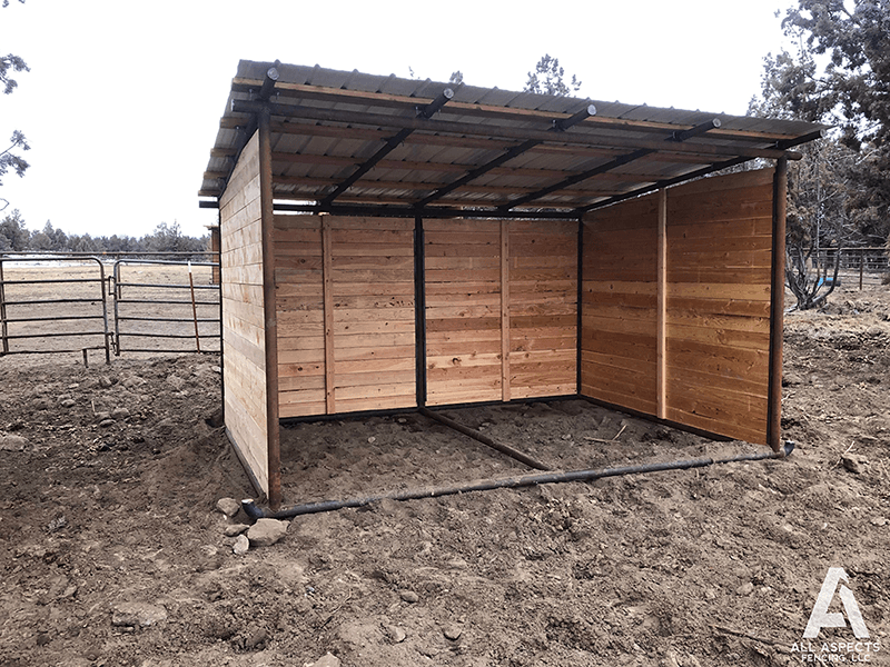 permanent or portable horse shelters